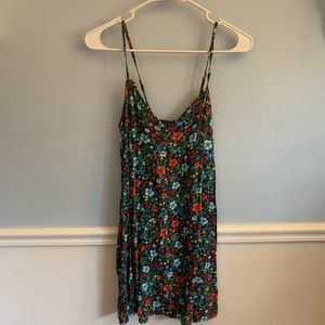 Mini dress with flowers